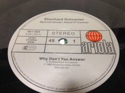画像2: Eberhard Schoener ‎– Why Don't You Answer  1985 version featuring Hazel O'Connor.